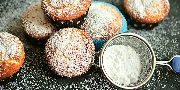 Muffins and sugar